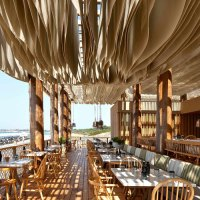 Incredible Restaurant Roof that moves like the sea waves